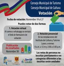 Votación elección del Consejo Consultivo de Turismo y el Consejo de Cultura