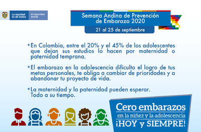 Semana andina: Prevención del embarazo
