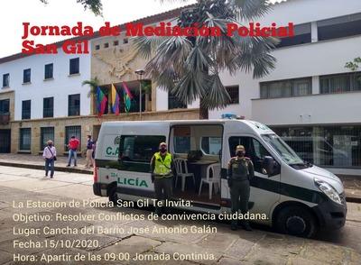 Jornada de mediación Policial San Gil
