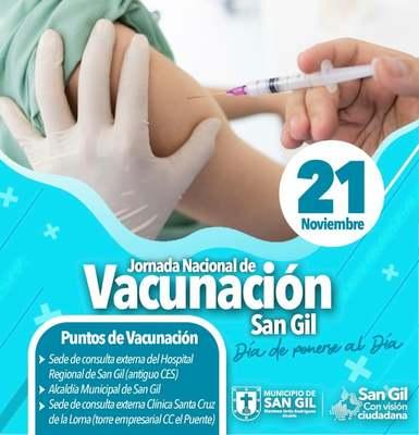 Jornada Nacional de Vacunación San Gil