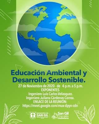 Webinar de Educación Ambiental y Desarrollo Sostenible