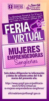 Feria Virtual Mujeres Emprendedoras Sangileñas